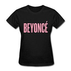 Custom Female Tshirt Geek Beyonce Pink Style L Black