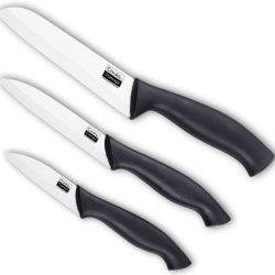 Cook Concept Nc-00299 Ceramic Knife Set With Plastic Sheath