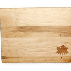 J.K. Adams Maple Wood Kitchen Basic Cutting Board With Laser Engraved Maple Leaf, 11-Inches By 16-Inches