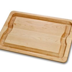 J.K. Adams 16-Inch-By-12-Inch Sugar Maple Wood Barbeque Carving Board