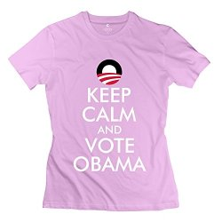 Keep Calm Vote Obama T Shirts For Girl/Pink Shirt