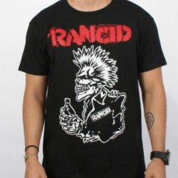Authentic Rancid 40 Oz Black Skull Punk T-Shirt S M L Xl Xxl Official New