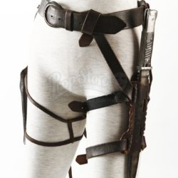 Original Movie Prop - Sucker Punch - Rocket'S (Jena Malone) Leather Belt With Holsters- Authentic