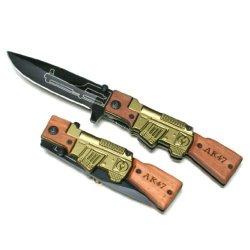 """Ak 47 Design Spring Assisted 8"""" Pocket Knife, 1065 Surgical Steel"""
