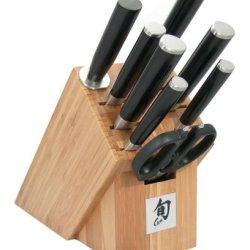 Shun Dm2004B Classic 9-Piece Knife Set With Bamboo Block