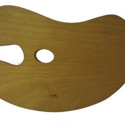 Small Wooden Kidney Palette Approx 415Mm X 28Mm