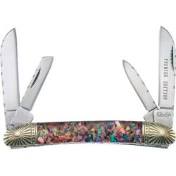 Frost Cutlery & Knives Bb516Abr Bear & Bull Swayback Pocket Knife With Red Abalone Handles