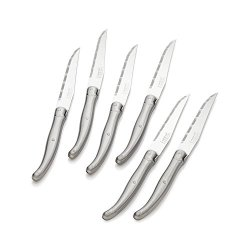 Set Of 6 Laguiole Stainless Steel Steak Knives