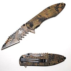 "Se-894Jc "" Snake Eye "" Shark Teeth Spring Ejs5N Assist Knife 4.5"" Kxipoqyz Jungle Camo Ajuiioptr 4567Fffg 567Ybghjk Action Assisted Knife- Jungle Camo Coated Ovqnfg Blade. 8.5"" Sgodkycx Overall With 3.5"" Long ""Shark Teeth"" Blade Extra Sharp Double Serrate"