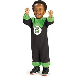Justice League Green Lantern Romper Costume, Green Print, 6-12 Months