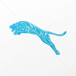 Stickers Decal Tribal Panther Decoration Bike Motorbike Bicycle Vehicl Blue (7 X 4.13 In)