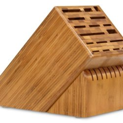 Cutlery And More 25-Slot Bamboo Universal Knife Block