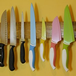 """Magnetic Knife Rack 18"""" Solid Oak Hand Crafted From Whisky Or Wine Barrel Stave"""