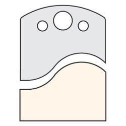 Trend It/3307150 Knife 50Mm X 4Mm Tool Steel (Pair)