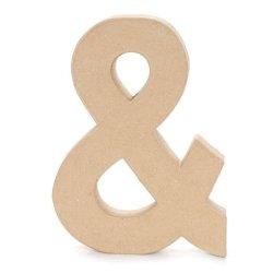 Bulk Buy: Darice Diy Crafts Paper Mache Symbol Ampersand 12 Inches (3-Pack) 2861-And