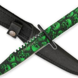 New Zombie Skull Camo Survival Knife Hg690Cm13