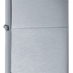 Zippo Brushed Chrome Vintage Lighter With Slashes