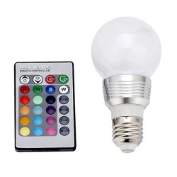 Pysical(Tm) E27 3W 16 Colors Changing Rgb Led Light Bayonet Bulb Remote Control Globe Lamp