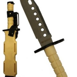 Ultimate Arms Gear Tactical Limited Edition Tan Lightweight Cut Stainless Steel M9 M-9 Military Survival Blade Bayonet Knife With Tactical Sheath Scabbard