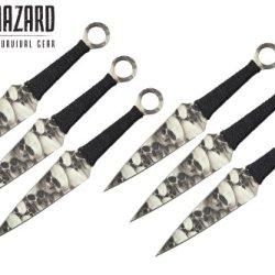 9 Inch 6Pcs Set Zombie Skull Throwing Knife Biohazard A8011-6Sk