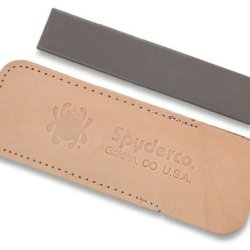 Spyderco Pocket Stone With Pouch - Medium Grit Pictured Small Rectangular Autoclave Safe