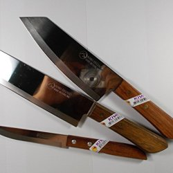 Knife Lot Kiwi Set 3 Pcs Kitchen Knives Cook Tool Cutery Ware Blade Stainless Steel. (Free Carving Knives 4 Pcs)