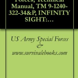 Us Army Special Forces, Technical Manual, Tm 9-1240-322-34&P, Infinity Sight: 8635466, (1240-00-056-4854), 1980