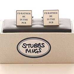 Stubbs Mugs I'D Rather Be In The Pub Cufflinks Boxed Set