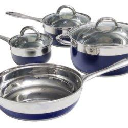 Oster 69484.07 Merton 7-Piece Cookware Set, Blue