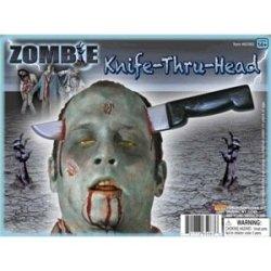 Zombie Knife Thru Head Costume Accessory