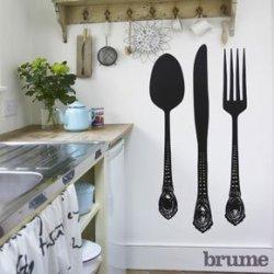 Brume Giant Cutlery Wall Sticker Set