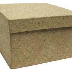 Paper Mache Mini Square Box By Craft Pedlars