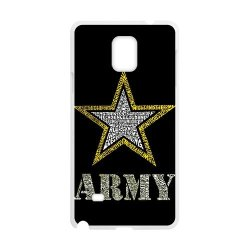 Jdsitem Creative Letter Army Star Design Case Cover Sleeve Protector For Phone Samsung Galaxy Note 4 (Laser Technology)