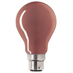 Bell 25W Gls 240V B22D (Bayonet Cap) Red Coloured Bulb - [Eu Specification: 220-240V]