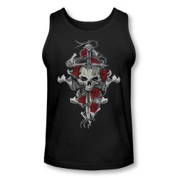 Lethal Threat Skull Rose Dagger Men'S Tank Top Large Black