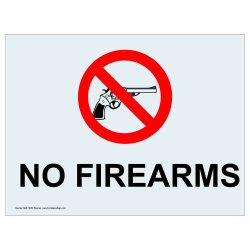 Compliancesigns Clear Vinyl Weapons Restricted Label, 7 X 5 In. With Front Adhesive, English