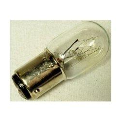 Kenmore Light Bulb, Short Glass Light Bulb, 15W Bayonet Base, Push In & Twist, 2 Posts On Bottom Of Bulb