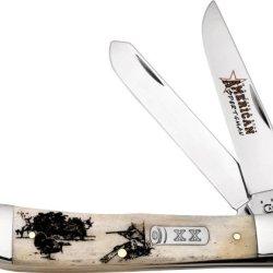 Case Cutlery 10445 Case Trapper Knife, Natural Bone