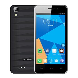 "Doogee Valencia Dg800 4.5"" Ips Mtk6582 4-Core Android 4.4.2 3G Phone 1Gb Ram 8Gb Rom 13Mp Cam (Black)"