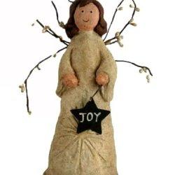 Craft Outlet Papier Mache Joy Angel With Tin Star Figurine, 8.5-Inch