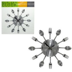 Kitchen Cutlery Wall Clock