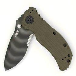 Zero Tolerance Zt0301St Ranger Green Folder Knife With Speedsafe And Partial Serration