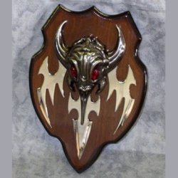 Demon Skull Dagger With Plaque