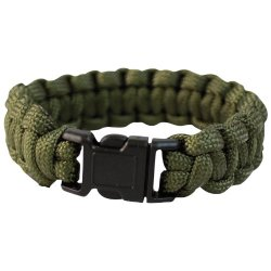 Mil-Tec Paracord Wrist Band 22Mm Olive Size M