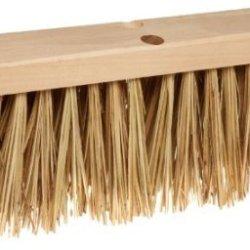 "Rubbermaid Commercial Fg9B2200 Palmyra Hardwood Block Street Broom, 16"" Head Width, Brown"