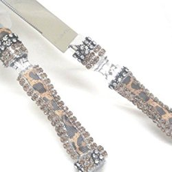 Leopard Print Wedding Reception Cake Knife And Server Set Wedding Supplies