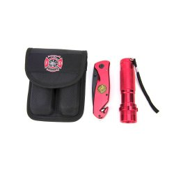 Firefighter Knife-Flashlight Combo