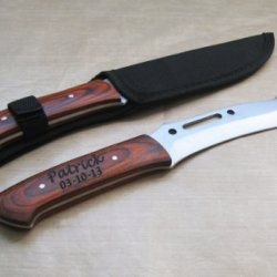 "Personalized Engraved Hunting 11"" Knife Rosewood Handle Father'S Day Anniversary Gift"