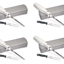 Hamilton Beach Brands 74250 Electric Knife Set, White - Quantity 4