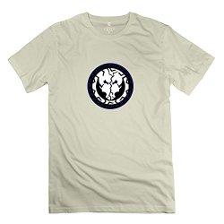 Mans Greek Back 3 T-Shirt - Retro Custom Natural T-Shirt